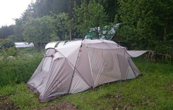 Купить большую высокую кемпинговую палатку с тамбуром в Москве