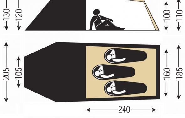 Купить палатку SALEWA 2011 ONTARIO BASE (4970) в интернет
