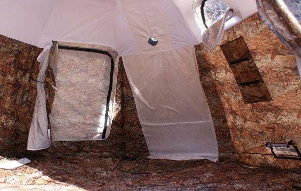 можно жить в палатке летом и зимой!