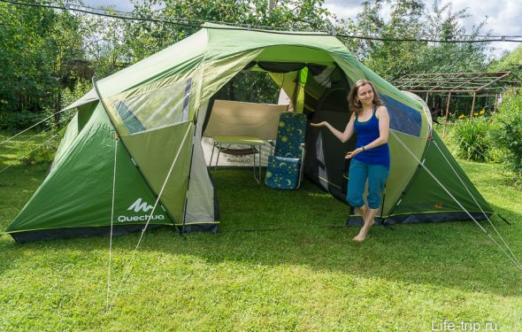 Обзор и отзыв о палатке Arpenaz Family 4.2 XL из Декатлона