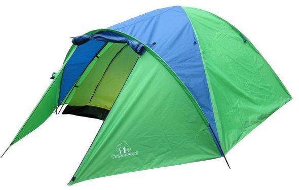 Палатка 4-х местная GreenWood Target 4 зеленый/голубой: купить за