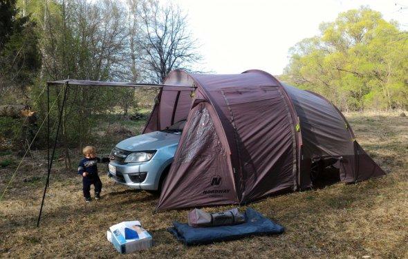 Палатка 4-местная Nordway Camper 4 Серый цвет - купить за 5 руб