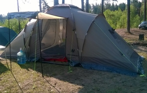 Палатка 4-местная Nordway Twin Sky 4 Basic Бежевый цвет - купить