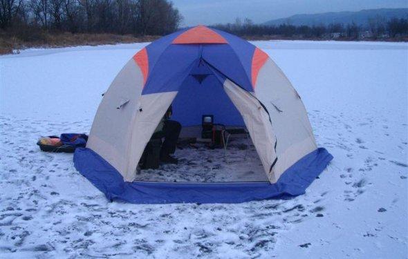 Палатки для зимней рыбалки: особенности и фишки -Полезные
