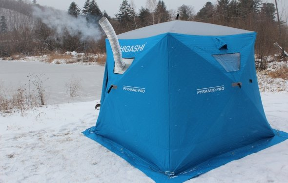 Зимняя палатка с печкой для рыбалки своими руками